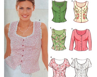 New Look 6945 Sewing Pattern Misses' Blouse  Size:  A  8-18  Uncut