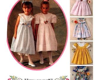McCall's Sewing Pattern 7016 Girls' Dress, Pantaloons  Size:  3  Uncut