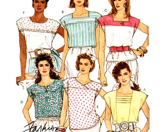 McCall's Sewing Pattern 4155 Misses' Tops  Size:  6-8  Uncut