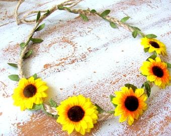 Flower Girl Sunflower Headband