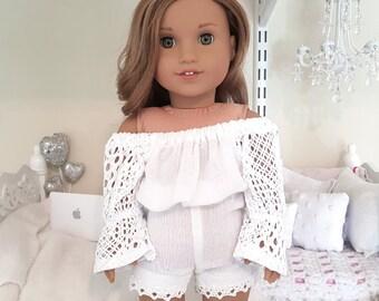 American girl doll white romper
