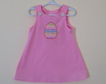 Gently Used Light Pink 3T Easter Dress With Initial A