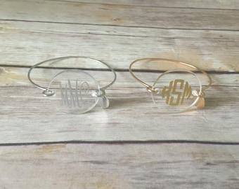 Monogrammed Bangle Bracelet