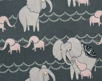 Counting Elephants Pewter, Dreamscape Collection, Dear Stella, Quilting Weight Cotton Fabric