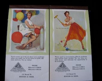 Vintage Elvgren Pin Up Calendar Pad 1957 May, June