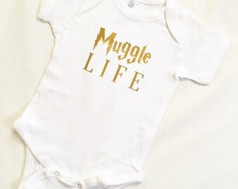 Baby Onesie - Muggle Life - Infant Bodysuit - Baby Onesie - Harry Potter Bodysuit - Harry Potter Onesie