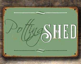 POTTING SHED SIGN, Potting Shed Signs, Vintage style Potting Shed Sign, Potting Shed Decor, Garden Decor, Garden Decorations, Potting Shed