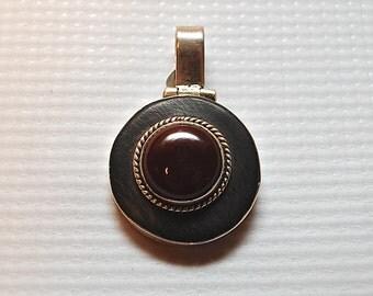 Sterling Silver Carnelian Pendant #3844