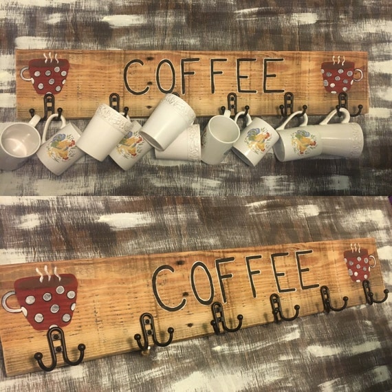 Coffee Decor Coffee Cup Storage Coffee Cup Holder Coffee Cup Rack Cup