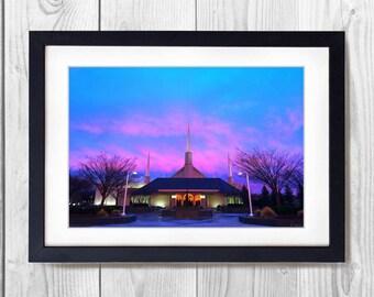 Boise Temple Sunset