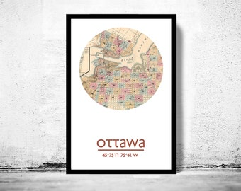 OTTAWA - city poster - city map poster print