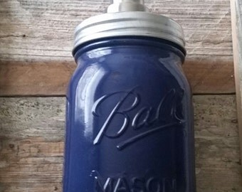 Country Living Soap Dispenser Navy Blue with Foaming Soap Pump