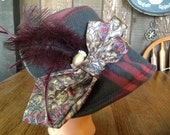 Stylish Victorian Fleece Fedora Wide Brim Bucket Hat