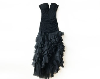 Black Strapless Evening Gown by Nurielle Haute Couture