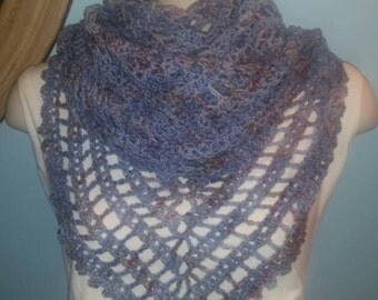 Baby Blue Speckled Shawl