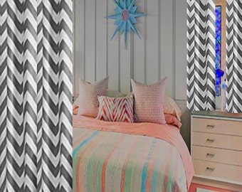 Zig zag SALE Take an additional 10% off enter grandview in coupon code area Drapes Custom made curtains  Choose your size