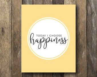 Inspirational Wall Art - Instant Download Quote - Inspirational Typography - Yellow Wall Art - Typography Print - Inspirational Printable