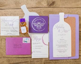 Wine Wedding Invitation