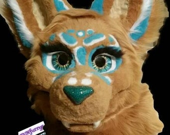 """FURSUIT """"partial"""" COMMISSION head,tail, 4 paws-hands and feet any look."""