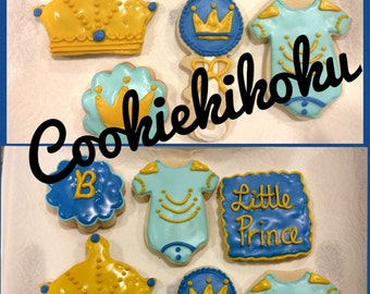 Prince Baby Shower Cookies 15 pcs
