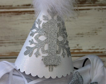 Party Hat - Matches Winter Wonderland tutu outfit