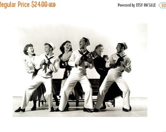 """50% Off Estate Sale Vintage On the Town Movie Poster, 1949 Gene Kelly, 12"""" x 16"""" Thick Paper-Cardboard Print Musical"""