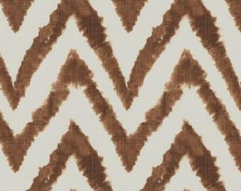 Italian Brown Chevron Fabric - By The Yard - Boy / Girl / Gender Neutral
