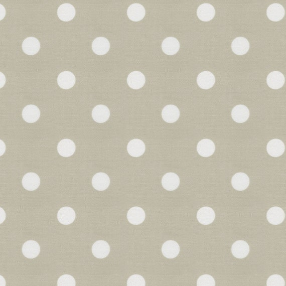 Taupe And White Polka Dot Fabric