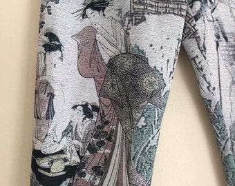90s asian print leggings / xs