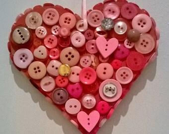 Button wooden heart