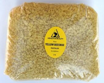 48 oz, 3 Lb YELLOW BEESWAX Bees WAX Organic Pastilles Beards Premium Prime Grade A 100% Pure