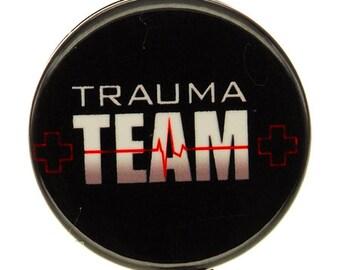 Trauma Team ID Badge Reel - SassyBadge - Trauma Nurse ID badge - Slide or Alligator Clip