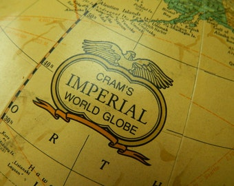 Vintage Cram's Imperial World Globe - Topographical