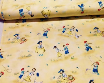 Cute Kids Fabric by Red Rooste........children playing......NEW off the Bolt