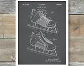 Patent Print, Hockey Skate, Patent Poster, Vintage Hockey, Hockey Gift, Spots Decor, Hockey Coach, P373