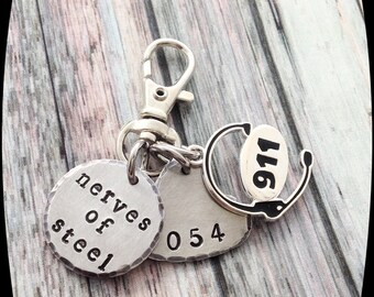 911 Dispatcher GIFT, Key chain Gift, 911 Operator, 911 Professional, officer Key Ring, Dispatcher Gift