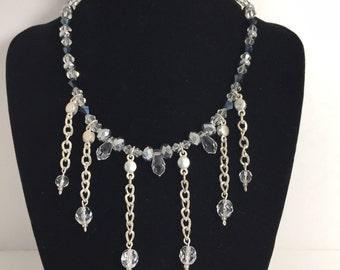 Swarovski Crystal and Glass Chandelier Necklace