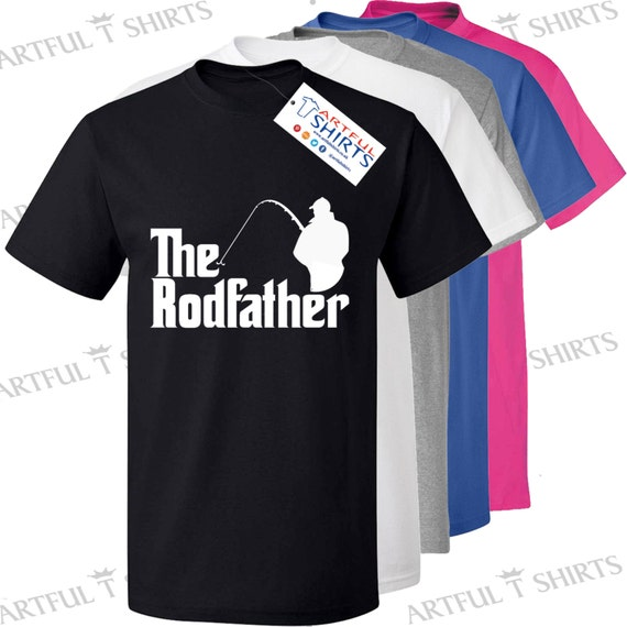 The rodfather fishing t shirt brand new men 39 s by artfultshirts for Fishing t shirts brands