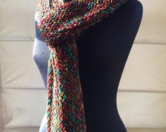 Merino Wool Scarf in Jewel Tones