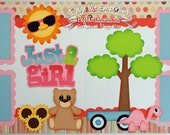 Scrapbook Page Kit Just A Girl Summer Toys 2 page Scrapbook Layout Kit 075