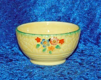 Crown Devon Garden Path Breakfast Sugar Bowl Art Deco 1920s