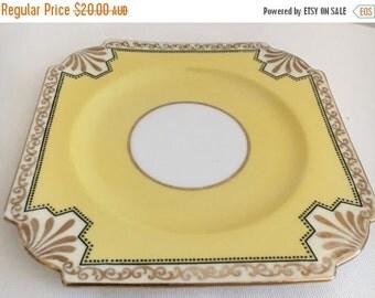 SALE 20% OFF Aynsley Yellow Vintage Side Plate B4305