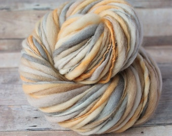 Hand Spun Thick and Thin Mini Skein Yarn - Hand Dyed - Hunted