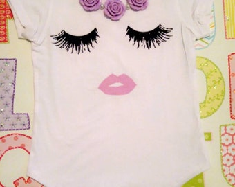 Lips and Lashes top