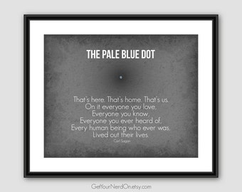 Inspirational Quote, The Pale Blue Dot, Astronomy Gifts, Science Nerd Poster