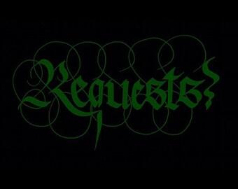 Custom Calligraphy Request