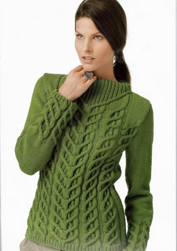 Knitting Patterns For Boat Neck Sweaters : Hand Knit Womens boat neck sweater made to order hand