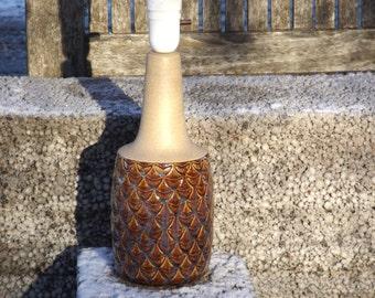 Danish Table Lamp, Mid Century Modern, Retro Lamp Base by SOHOLM STENTOJ Denmark, Art Pottery, Scandinavian Design, 1960s, Handmade Ceramics