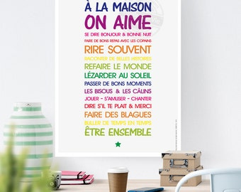 A3 digital file - rule of life at home text statement - B