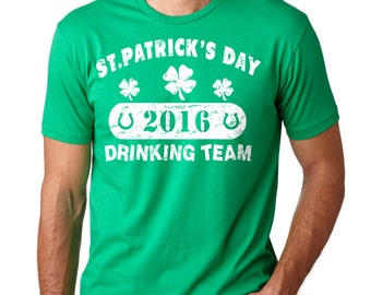 St. Patrick's Day T-Shirt Clover Drinking Team Shamrock Tee Shirt
